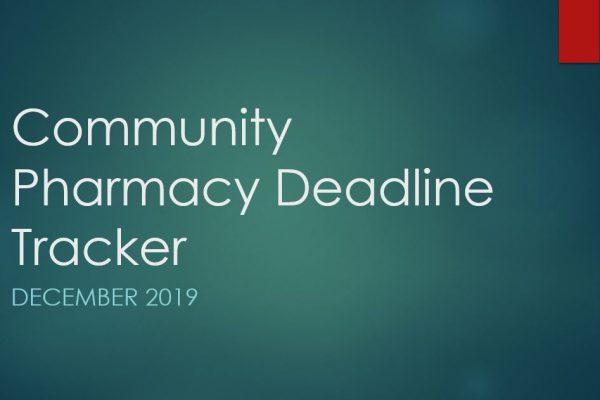 Community Pharmacy Deadline Tracker December 2019