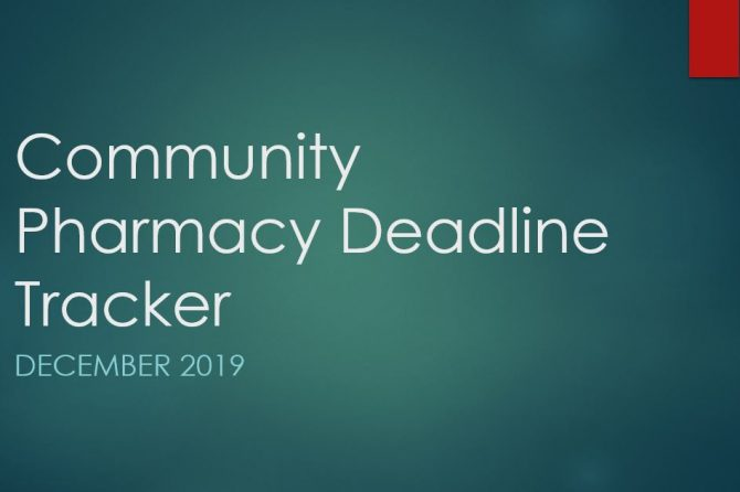 Community Pharmacy Deadline Tracker December 2019