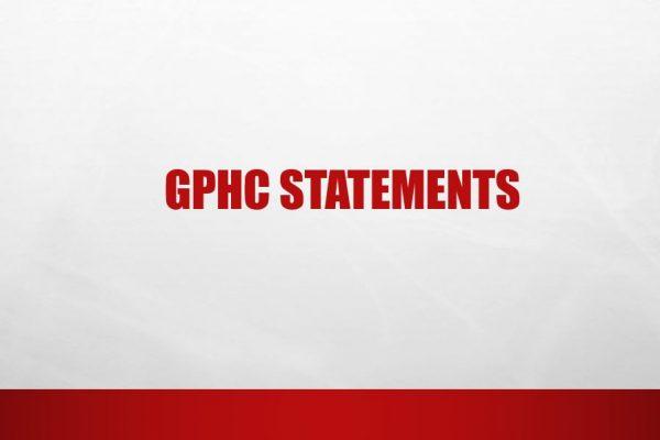 GPHC Statements