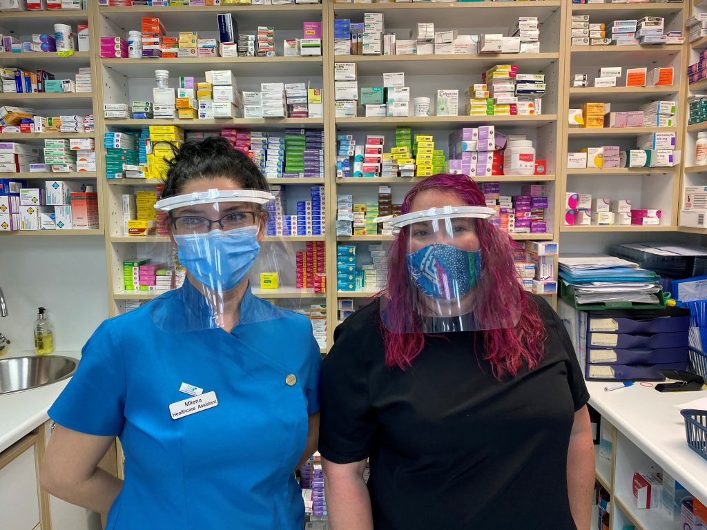 Volunteer initiatives from Brunel University and The Bike Shed help supply visors to our Pharmacy Teams