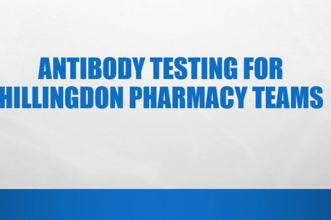 Antibody Testing For Hillingdon Pharmacy Teams