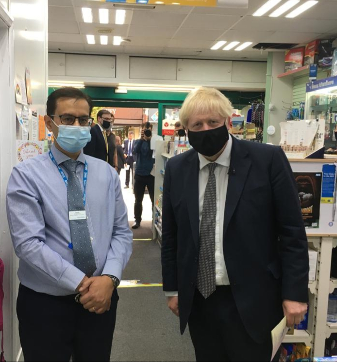 Prime Minister recognises the important role of pharmacy during a recent visit