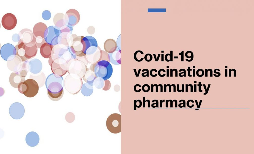 Covid-19 vaccinations in community pharmacies