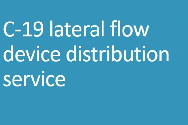 C-19 lateral flow device distribution service
