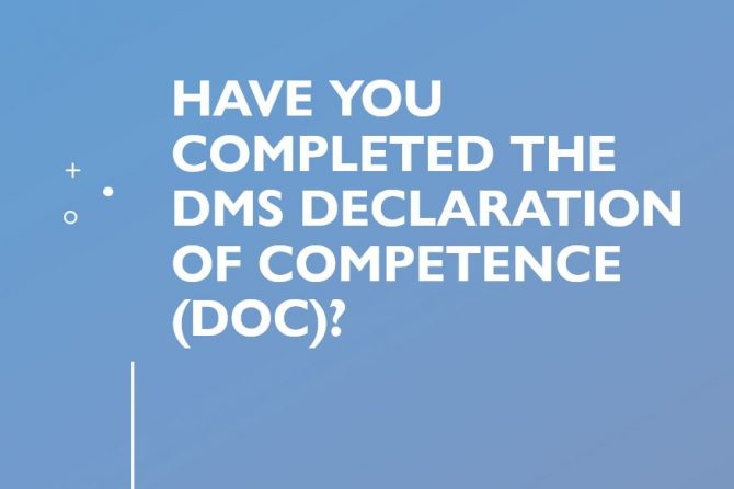 Have you completed the DMS DoC?